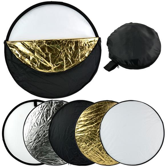 "24"" 60cm 5 in 1 Photography Studio Multi Collapsible Light Reflector Caroj - image 8 of 8"