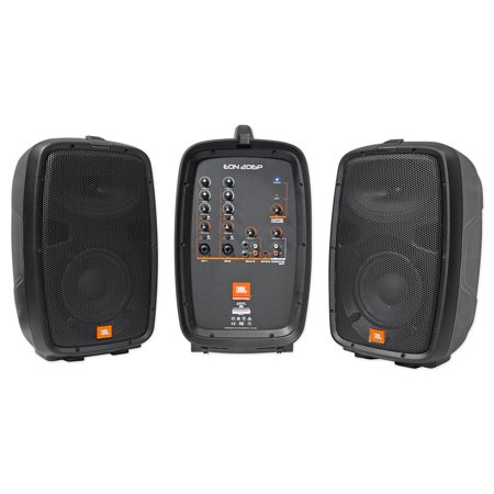 jbl eon206p portable pa system pair 6 5 speakers powered mixer. Black Bedroom Furniture Sets. Home Design Ideas