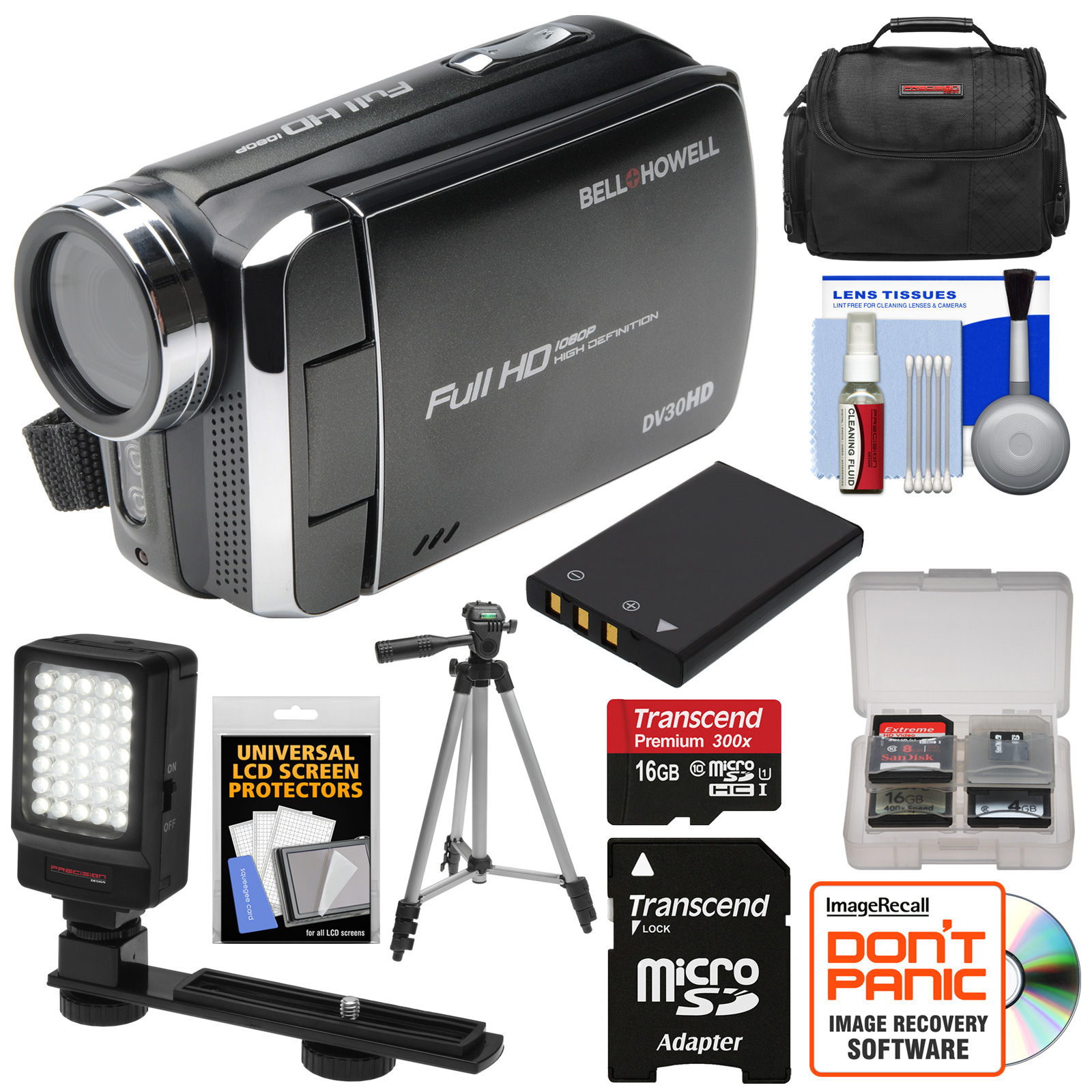 Bell & Howell DV30HD 1080p HD Video Camera Camcorder (Bla...