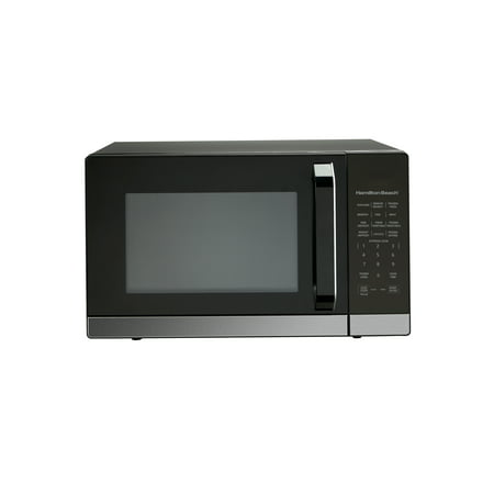 Hamilton Beach 1.4 Cu.ft. Microwave Oven, Black Stainless Steel with 10 Power Levels