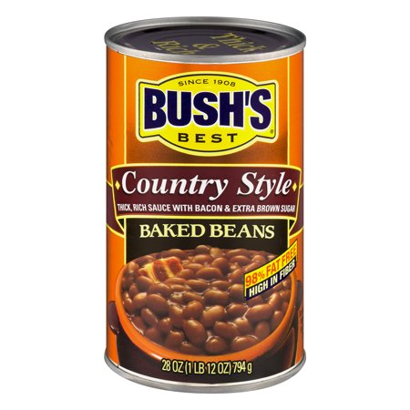 (6 Pack) Bush's Best Country Style Baked Beans, 28