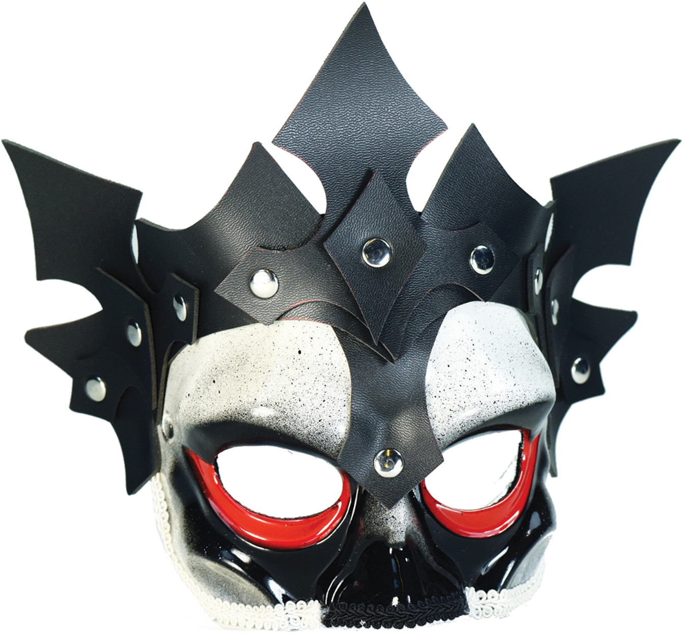 Adults Viking Skull and Leather Half Mask Costume Accessory
