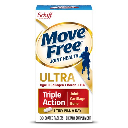 Move Free Ultra Triple Action, 30 tablets - Joint Health Supplement with Type II Collagen, Boron and HA – One Tiny Pill