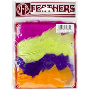 Turkey Flat Feathers 36/Pkg-Jewel