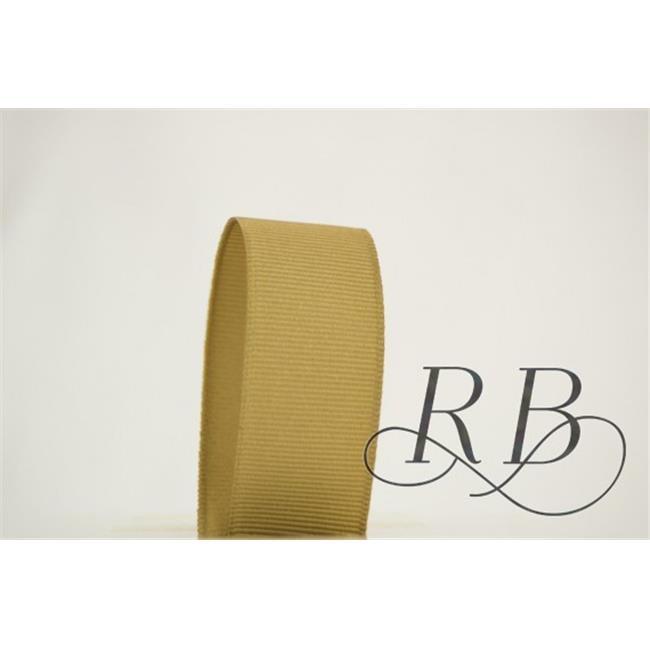 Ribbon Bazaar 4588 0.25 in. Solid Grosgrain Ribbon, Khaki - 50 Yards