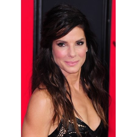 Sandra Bullock At Arrivals For The Heat Premiere The Ziegfeld Theatre New York Ny June 23 2013 Photo By Gregorio T Binuyaeverett Collection Photo Print