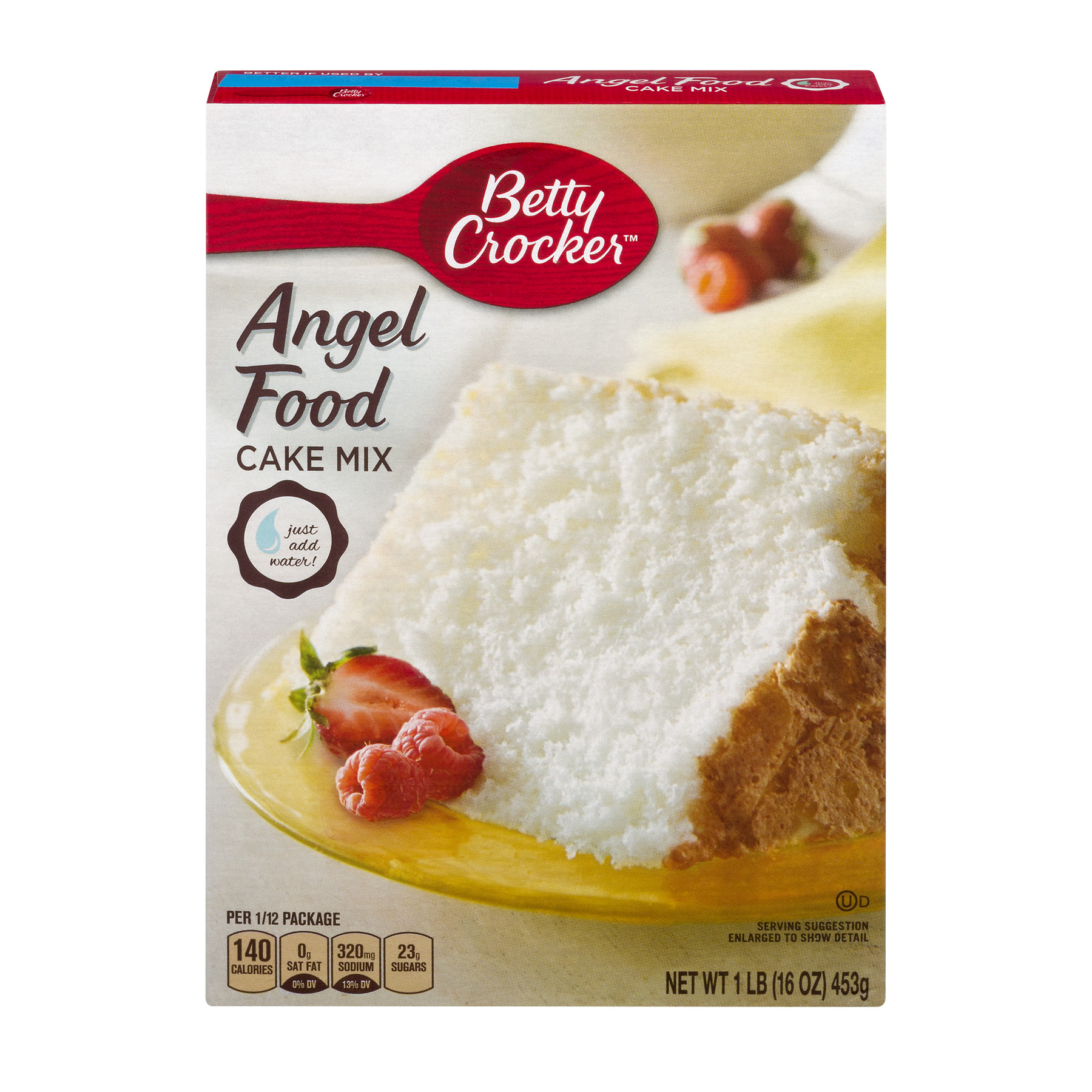 Betty Crocker�� Super Moist Fat Free Cake Mix Angel Food 16.0 oz Box