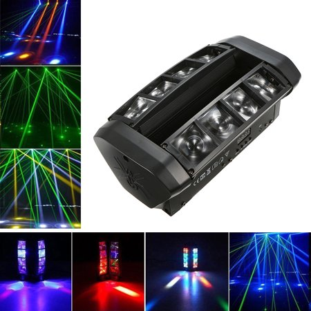 AC110-230V 60W RGBW 7 / 13 Channels LED Stage Light Lighting Fixture Suported DMX512 Sound Activated Auto Running Master Slave Mini Spider Stage Lamp for DJ Show Home Party Decoration Music Concert
