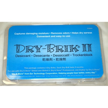 Zephyr Replacement Desiccant Dri Brik (3 pack), Dehumidifier for hearing aids By Hearing Aid Supply Shop