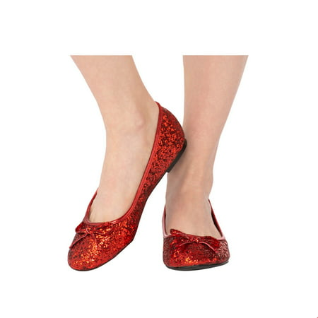 Adult Red Glitter Shoe Halloween Costume Accessory (Cheap Easy Halloween Costume Ideas For Adults)