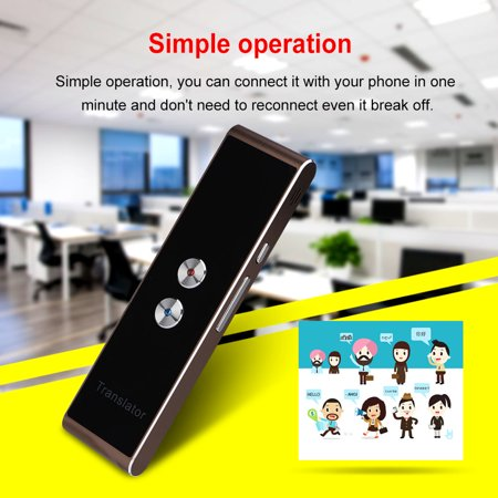 Portable Smart Two-Way Real Time Multi-Language Voice Translator for Learning Travel Meeting...