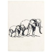 Elephants Faux Leather Journal - 256 Ruled Pages, 5x7""