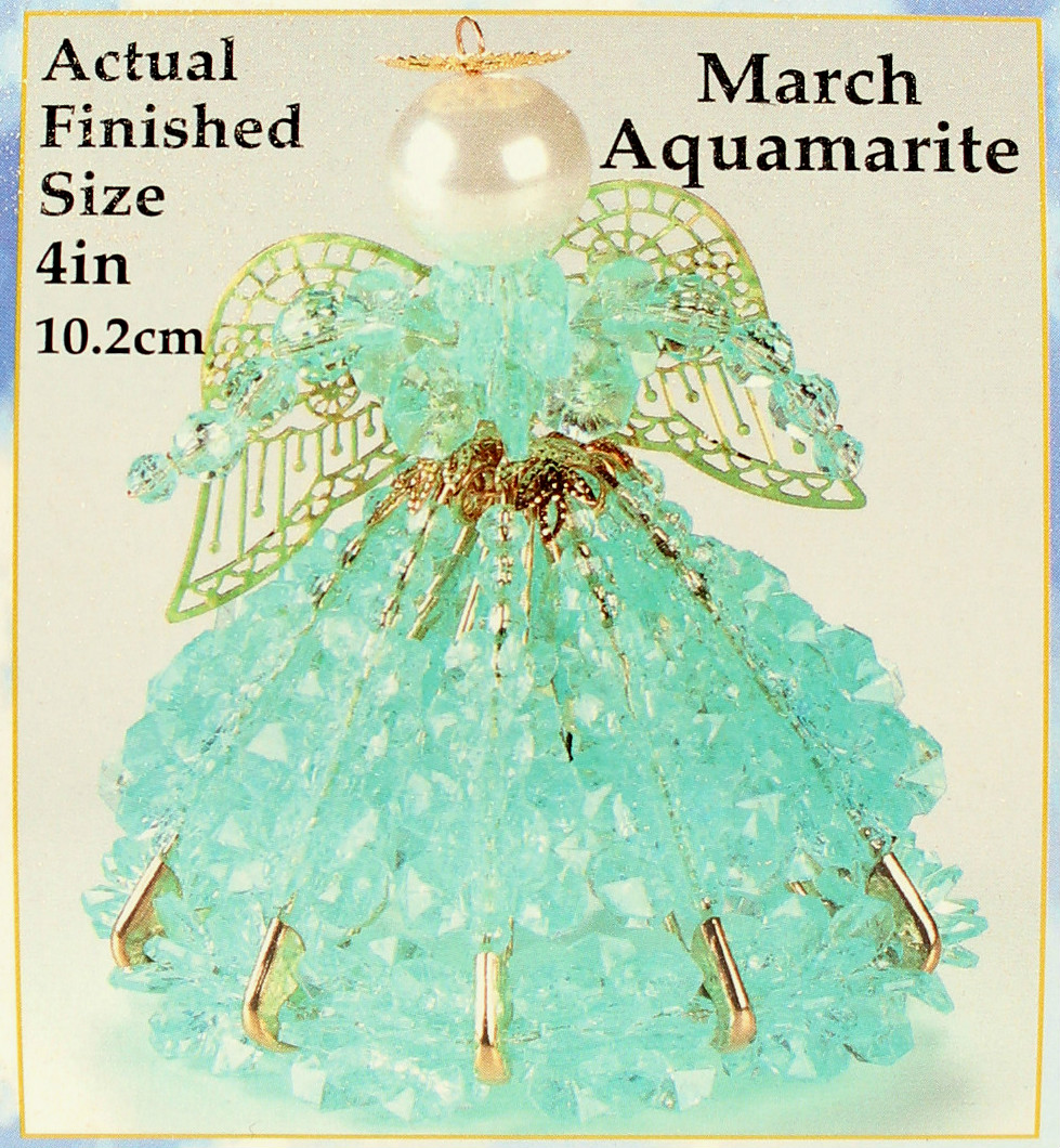 March Birthstone Angel Christmas Ornament Kit
