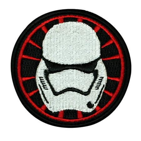 Cheap Stormtrooper Helmet (Disney Star Wars Stormtrooper Helmet Patch Officially Licensed Iron On)