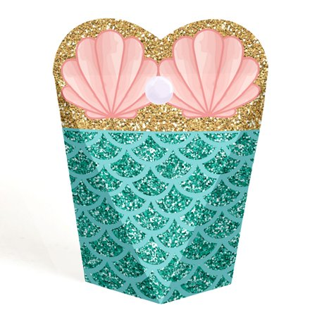Party Favors For Women (Let's Be Mermaids - Baby Shower or Birthday Party Favor Gift Boxes - Set of)