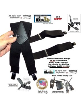 fbfa01db18f Product Image Hold-Ups Outdoorsman Series Shadow Black in longer XL length  in a 2 inch wide. Holdup Suspender Company Inc