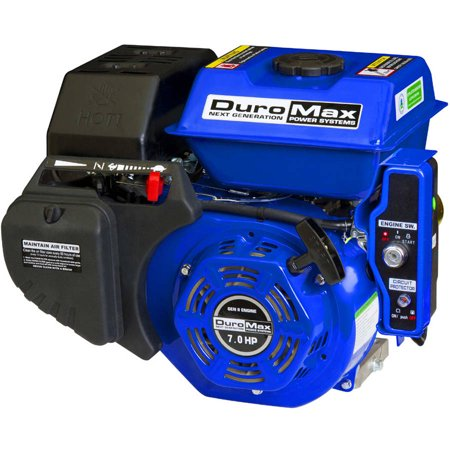 Duromax 7Hp 3 4  Shaft Electric Recoil Start Engine