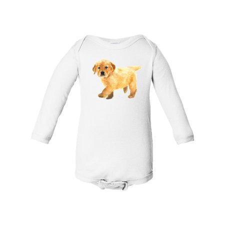 Puppy Baby Boy Baby Girl Infant Long Sleeve Cotton Bodysuit (Custom Onesies)