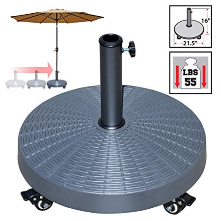 Image of Strong Camel Outdoor Patio Umbrella Resin Weight Base Stand Deck Parasol w Wheels ONLY BASE