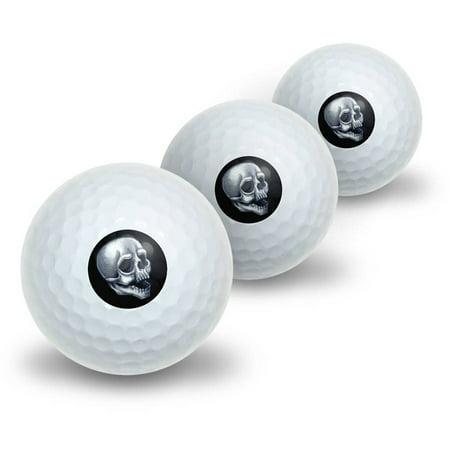 Skull Death Skeleton Halloween Novelty Golf Balls, 3pk