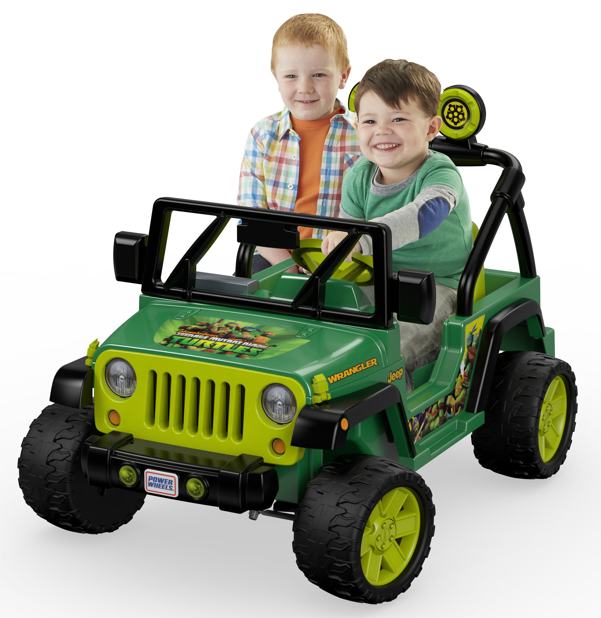 Power Wheels Nickelodeon Teenage Mutant Ninja Turtles Jeep Wrangler 12V Battery-Powered... by Mattel