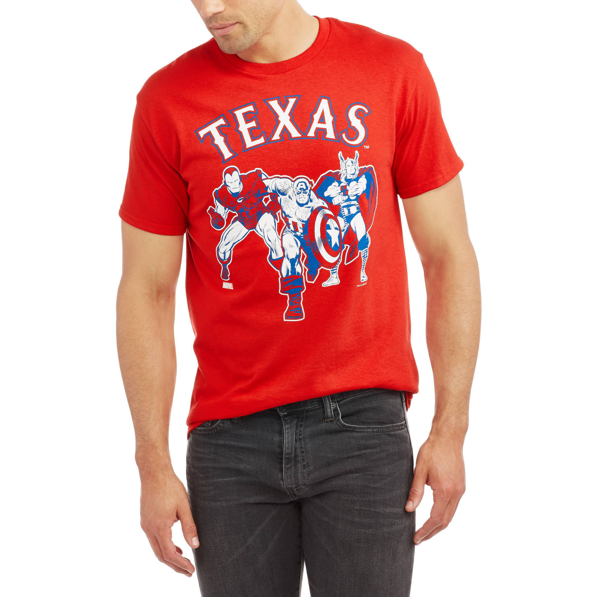 MLB Texas Rangers Big Men's Marvel Super Hero Tee, 2XL