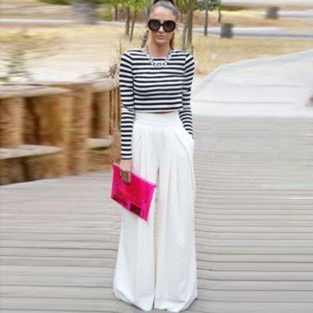 Women's Tops Fashion Solid Comfy Drawstring Palazzo Wide Leg Lounge Pants Loose Yoga Leggings Capri Ladies Trousers