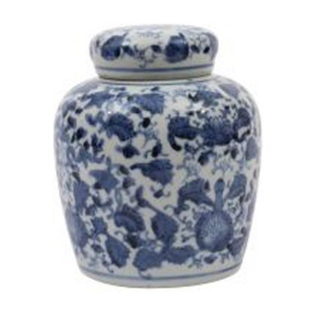 3R Studios Blue and White Ceramic Ginger Jar with (Ceramic Lidded Jar)