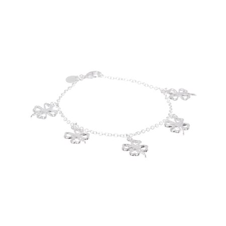 Sharon Good Luck Charm Bracelet 925 Sterling Silver Plated - Silver