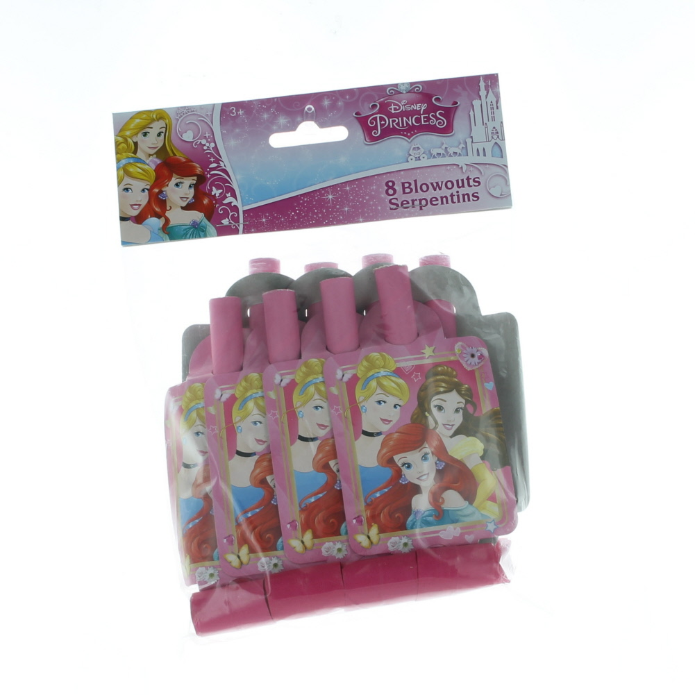 Disney Princess 8 Party Blowouts Paper Goods Birthday Supplies