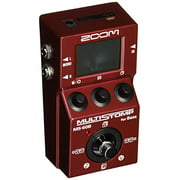 Zoom MS-60B MultiStomp Bass Guitar Effects Pedal, Single Stompbox Size, 58 Built-in effects, Tuner