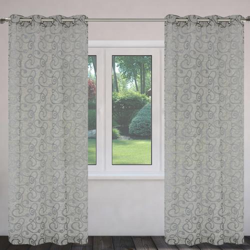 LJ Home Mystic Burnout Grommet Curtain Panels (Set of 2)