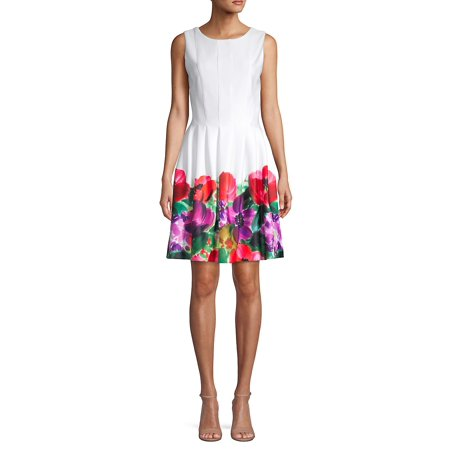 Sleeveless Floral Fit-and-Flare Dress ()