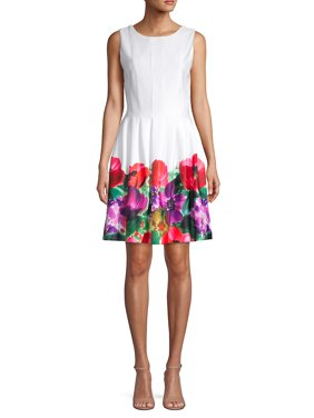 a6fb154c1f2e Product Image Sleeveless Floral Fit-and-Flare Dress. Product TitleCalvin  KleinSleeveless ...