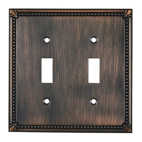 Richelieu BP8633 Double Traditional Toggle Switch Plate from the Decora Collection