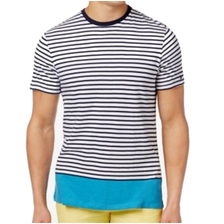 Tommy Hilfiger NEW Navy Mens Size XL Striped Colorblocked Tee T-Shirt