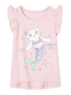 "The Children's Place Baby & Toddler Girl ""Confetti Shakey"" Interactive Graphic Flutter Sleeve Tank Top"