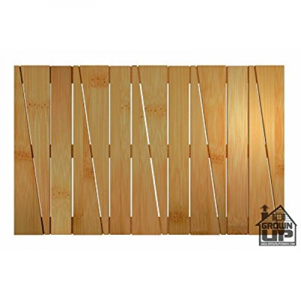 Bamboo Deluxe Shower Floor and Bath Mat ~ Skid Resistant ~ Heavy Duty Bamboo Floor Rug ~ Grown Up Homes