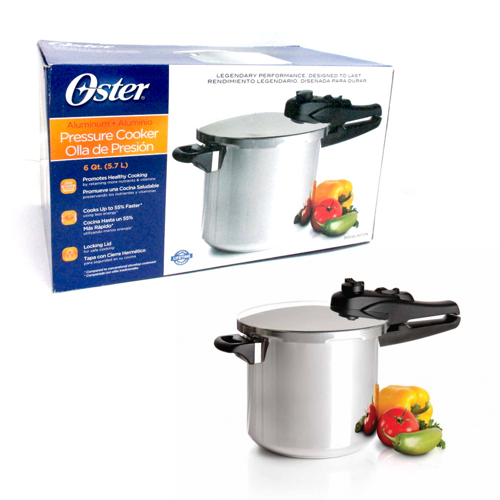 6 Quart Oster Pressure Cooker Kitchen Cookware Pot Steamer Heavy Duty Aluminum ! by PRIDE PRODUCTS