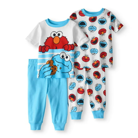6e189947c Sesame Street - Newborn Baby Boy Cookie Monster   Elmo Cotton Tight ...