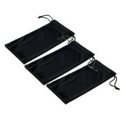 Emblem Eyewear - Black Microfiber Pouch Bag Soft Cleaning Case Sunglasses Eyeglasses Glasses