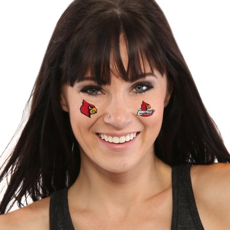 Louisville Cardinals 8-Piece Value Pack Waterless Face Tattoos - No Size](Cardinal Tattoo Ideas)