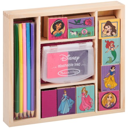 Disney Melissa   Doug  Disney Princess Wooden Stamp Set 15 Pc Pack