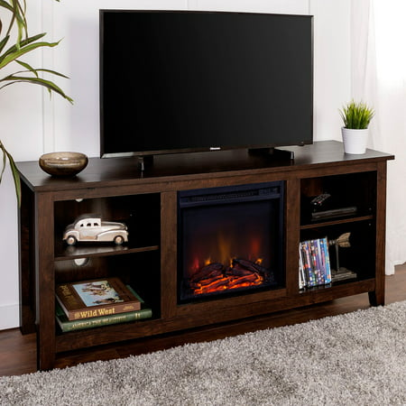 Walker Edison 58-in. Wood Fireplace Media TV Stand Console ()