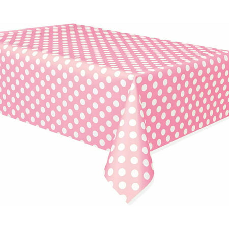 (3 Pack) Light Pink Polka Dots Table Cover, 108