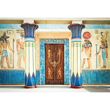 ABPHOTO 7x5ft Photography Backdrop Ancient Egypt Scene Murals Pharaoh Temple Hieroglyphic Egyptian Papyrus Backdrops for Photo Shoots Party Adult Kids - Pharaoh Kids