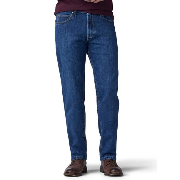 stretch denim jeans : Lee Men's Regular Fit Straight Leg Stretch Jeans