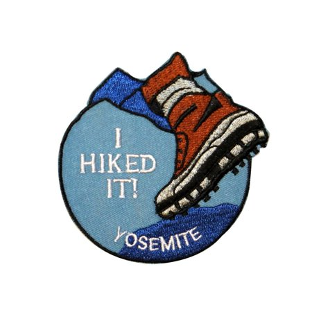 Trail Hiking Yosemite National Park Souvenir Patch California Iron-On (Best Hiking Trails In Yosemite Park)