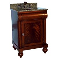 "John Adams 24"" Vanity in a Brown Cherry Sherwin Williams Finish, Vanity Only, Kaco Model# 348-2400"