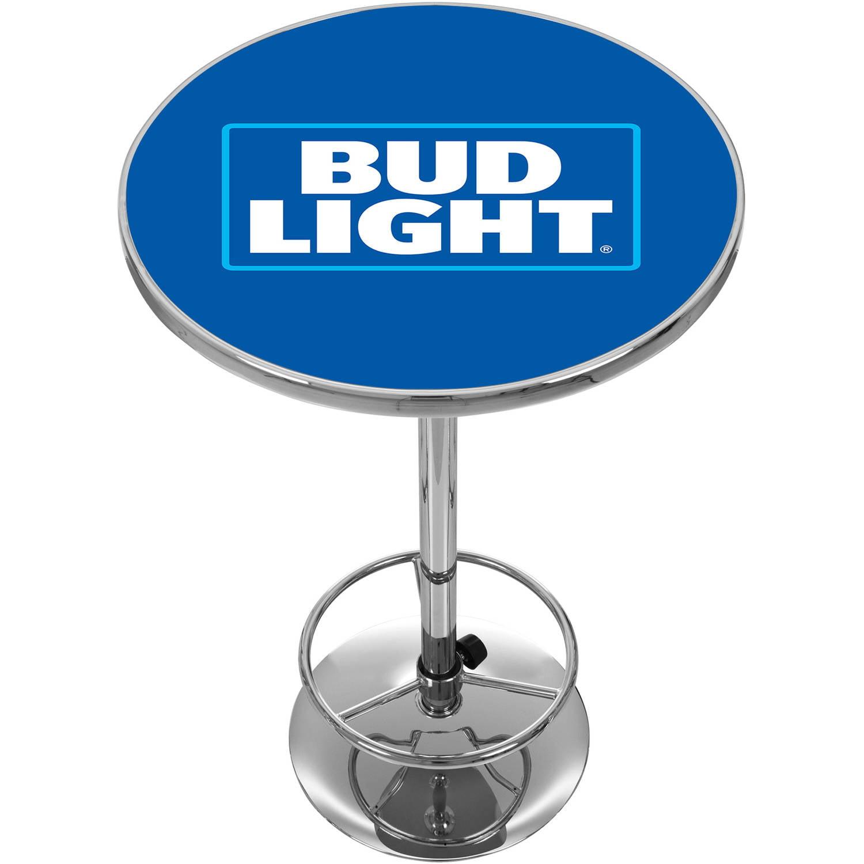 "Trademark Bud Light 42"" Pub Table, Chrome"